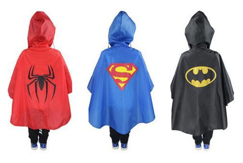 Super Heroes Raincoat For Children - DCMarvel.Store