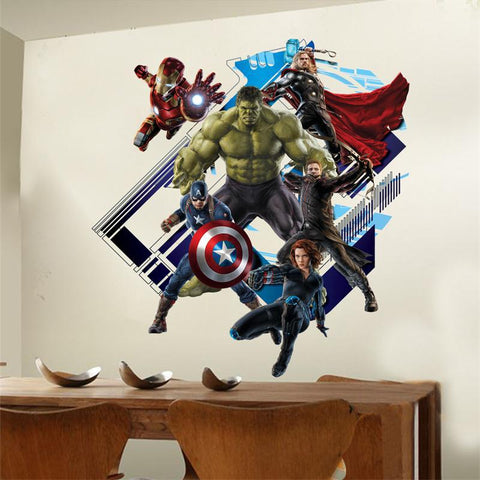 Marvel Avengers 3D Wall Decal - DCMarvel.Store