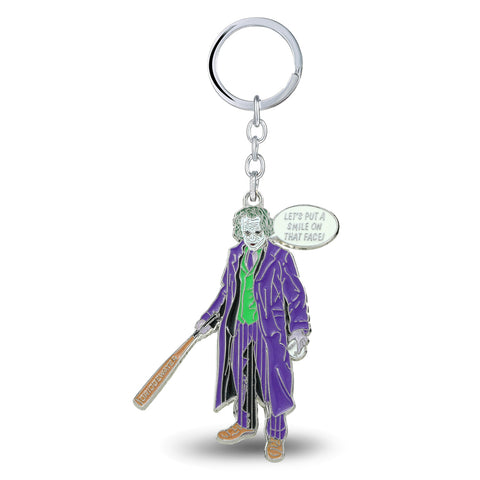 The Joker Heath Ledger The Dark Knight Keychain - DCMarvel.Store