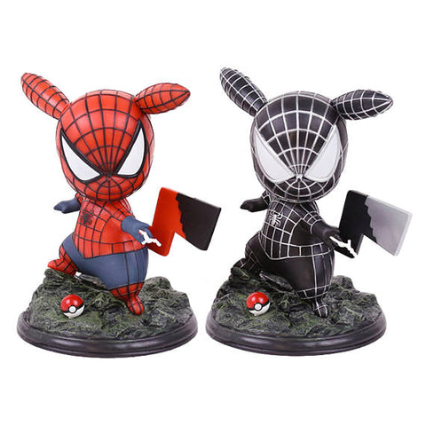 Pikachu Cosplay Spider-man Limited Edition Figure 14cm