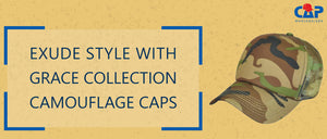 Exude Style with Grace Collection Camouflage Caps