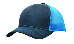 Headwear Brushed Cotton with Mesh Back Cap (4002)