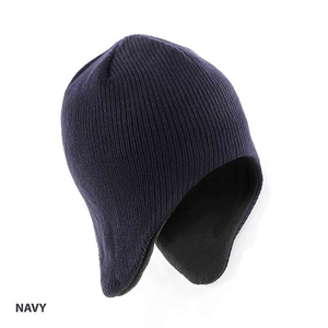Grace Collection Acrylic/Polar Fleece Beanie with Ear Flap-(AH750/HE750)