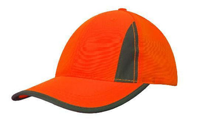 Headwear-Headwear Luminescent Safety Cap with Reflective Inserts and Trim--Uniform Wholesalers - 3