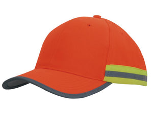 Headwear Hi Vis Cap with Reflective Tape (3030)