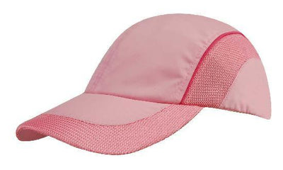 Headwear-Headwear Spring Woven Fabric with Mesh to Side Panels and Peak-Pink/Pink / Free Size-Uniform Wholesalers - 3
