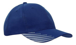 Headwear-Headwear Breathable Poly Twill with Peak Flash Print-Royal/White / Free Size-Uniform Wholesalers - 10