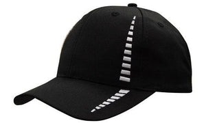 Headwear-Headwear Breathable Poly Twill with Small Check Patterning Cap-Black/White / Free Size-Uniform Wholesalers - 4