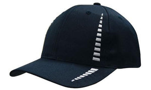 Headwear-Headwear Breathable Poly Twill with Small Check Patterning Cap-Navy/White / Free Size-Uniform Wholesalers - 5