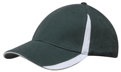 Headwear-Headwear  Brushed Heavy Cotton with Inserts on the Peak & Crown-Bottle/White / Free Size-Uniform Wholesalers - 8