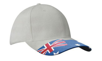 Headwear-Headwear Brushed Cotton Waving Flag Cap-White / Free Size-Uniform Wholesalers - 3