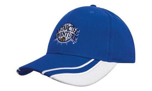 Headwear-Headwear Brushed Heavy Cotton with Curved Peak Inserts--Uniform Wholesalers - 1