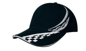 Headwear-Headwear Brushed Heavy Cotton with Swirling Checks & Sandwich Cap--Uniform Wholesalers - 3