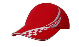 Headwear-Headwear Brushed Heavy Cotton with Swirling Checks & Sandwich Cap--Uniform Wholesalers - 4