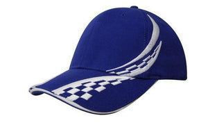 Headwear-Headwear Brushed Heavy Cotton with Swirling Checks & Sandwich Cap--Uniform Wholesalers - 5