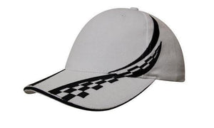 Headwear-Headwear Brushed Heavy Cotton with Swirling Checks & Sandwich Cap--Uniform Wholesalers - 6