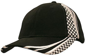 Headwear-Headwear Brushed Heavy Cotton with Embroidery & Printed Checks-Black/White / Free Size-Uniform Wholesalers - 4