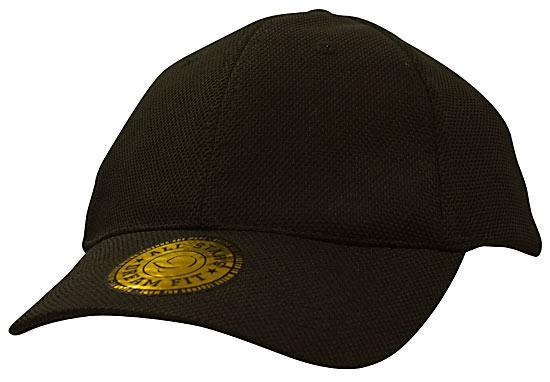 Headwear-Headwear Double Pique Mesh with Dream Fit Styling Cap-Black   M  18935c8b0c20