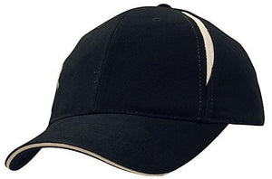 Headwear-Headwear Brushed Heavy Cotton with Crown Inserts & Sandwich Cap-Navy/White / Free Size-Uniform Wholesalers - 6