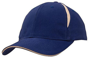 Headwear-Headwear Brushed Heavy Cotton with Crown Inserts & Sandwich Cap-Royal/White / Free Size-Uniform Wholesalers - 8