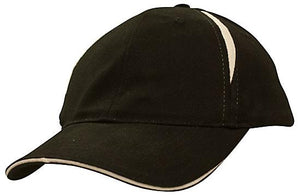 Headwear Brushed Heavy Cotton with Crown Inserts & Sandwich Cap (4092)
