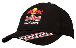 Headwear Brushed Heavy Cotton with Racing Ribbon On Peak & Closure Cap (4093)- On Sale