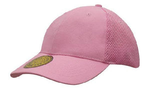 Headwear-Headwear  Sandwich Mesh with Dream Fit Styling Cap-Pink / Free Size-Uniform Wholesalers - 4