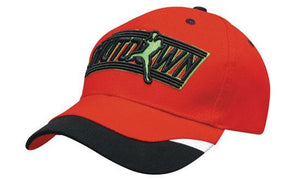 Headwear-Headwear Brushed Heavy Cotton with Peak Inserts & Printed Trim--Uniform Wholesalers - 1