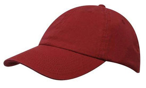 Headwear-Headwear Washed Chino Twill Cap-Cranberry / Free Size-Uniform Wholesalers - 4