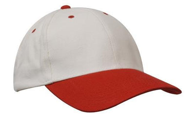 Headwear-Headwear Brushed Heavy Cotton-White/Red / Free Size-Uniform Wholesalers - 33