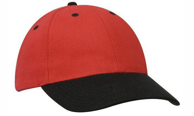 Headwear-Headwear Brushed Heavy Cotton-Red/Black / Free Size-Uniform Wholesalers - 25