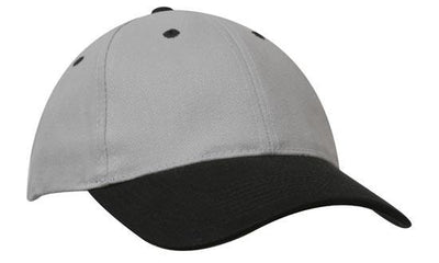 Headwear-Headwear Brushed Heavy Cotton-Grey/Black / Free Size-Uniform Wholesalers - 12