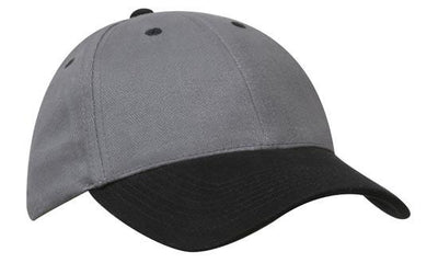 Headwear-Headwear Brushed Heavy Cotton-Charcoal/Black / Free Size-Uniform Wholesalers - 8