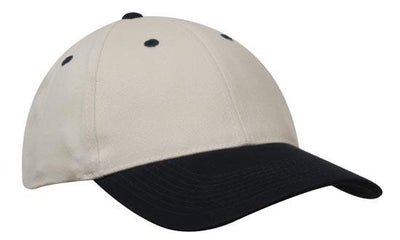 Headwear-Headwear Brushed Heavy Cotton-Natural/Navy / Free Size-Uniform Wholesalers - 17