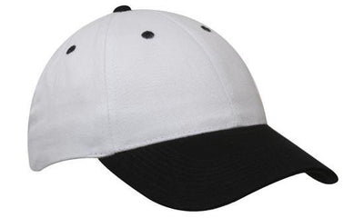 Headwear-Headwear Brushed Heavy Cotton-White/Black / Free Size-Uniform Wholesalers - 31