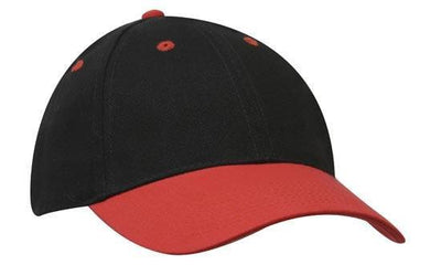 Headwear-Headwear Brushed Heavy Cotton-Black/Red / Free Size-Uniform Wholesalers - 3