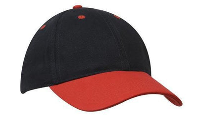 Headwear-Headwear Brushed Heavy Cotton-Navy/Red / Free Size-Uniform Wholesalers - 19