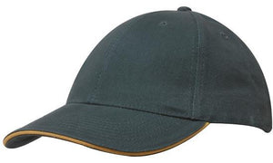 Headwear-Headwear Brushed Heavy Cotton with Sandwich Trim--Uniform Wholesalers - 7