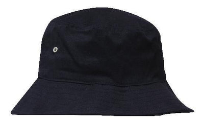 Headwear-Headwear Brushed Sports Twill Bucket Hat-Black / M-Uniform Wholesalers - 2