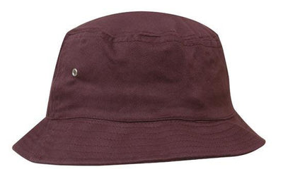 Headwear-Headwear Brushed Sports Twill Bucket Hat-Maroon / M-Uniform Wholesalers - 9