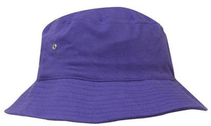 Headwear-Headwear Brushed Sports Twill Bucket Hat-Purple / M-Uniform Wholesalers - 17