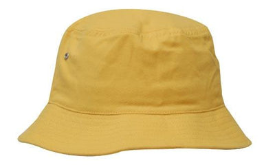 Headwear-Headwear Brushed Sports Twill Bucket Hat-Yellow / M-Uniform Wholesalers - 24
