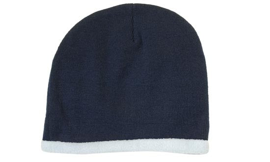 Headwear Roll Down Acrylic & Polar Fleece Beanie - Toque (4253)-On Sale