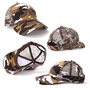 Grace Collection Camo 6-Panel Cap-(AH069/HE069)