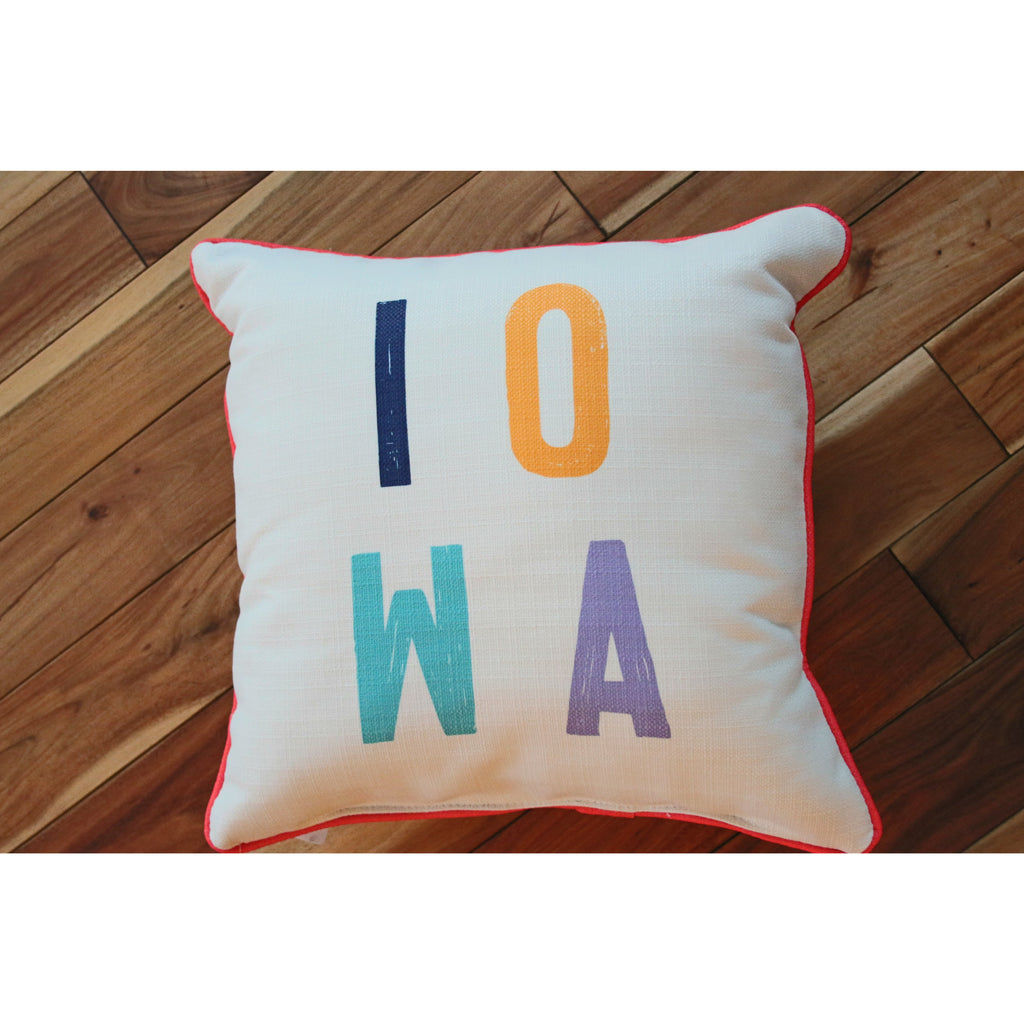 Colorful Iowa Pillow