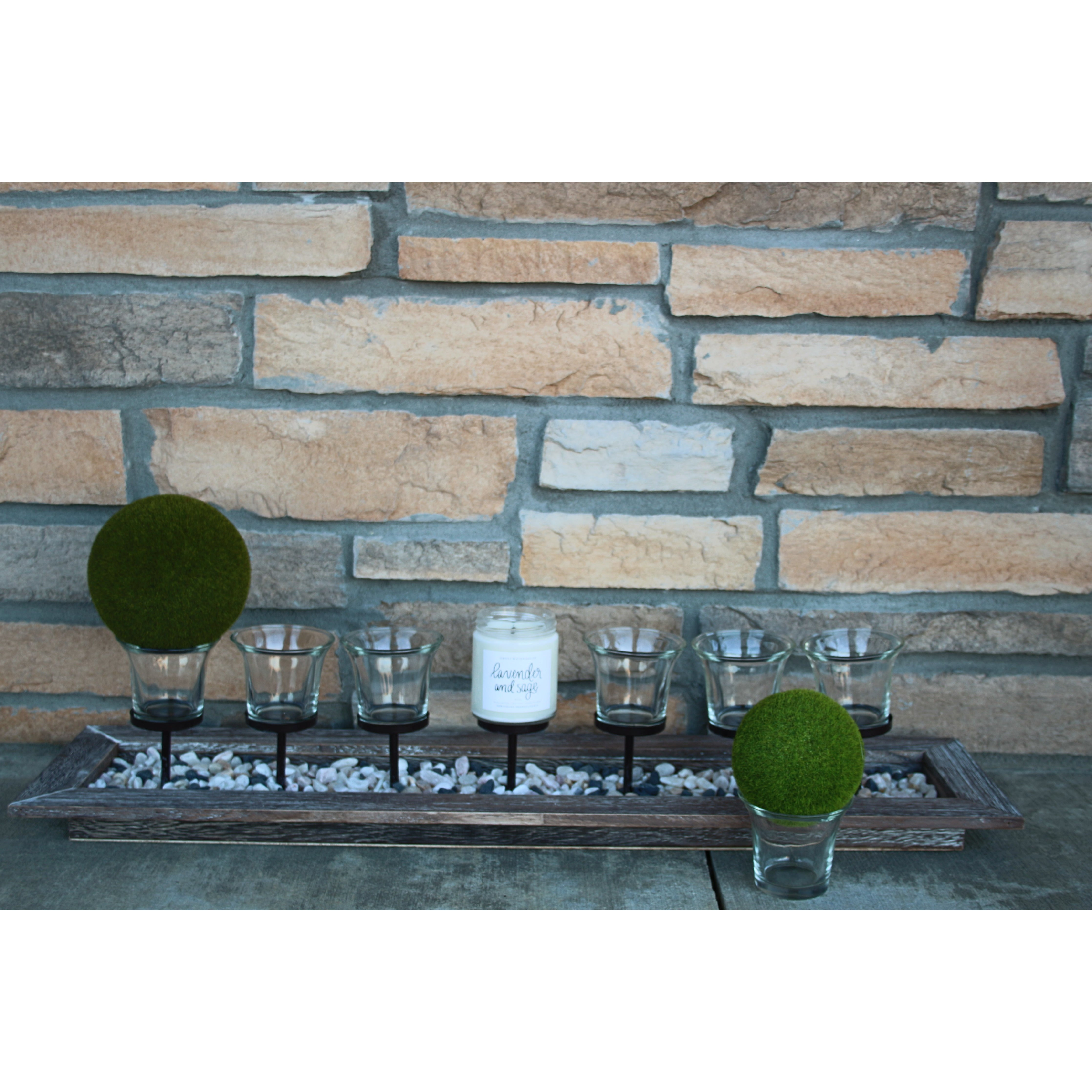 SD Beachwood Votive Centerpiece