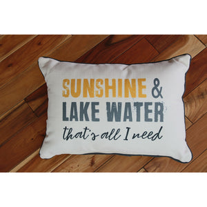 Sunshine & Lake Water Pillow
