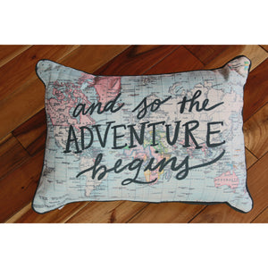 And So The Adventure Begins Pillow