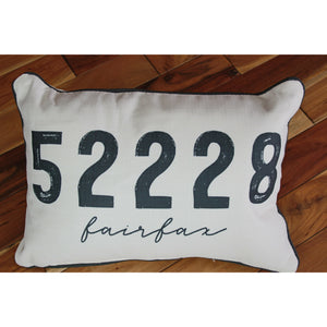 Favorite Zip Code Pillow