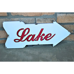 Lake Wall Art Arrow